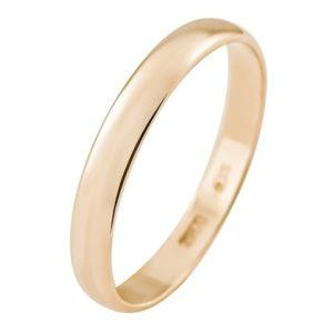 Кольцо обручальное гладкое из золота 375*