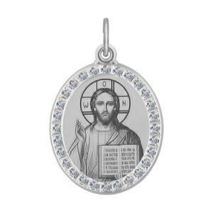 Икона Господь Вседержитель из серебра