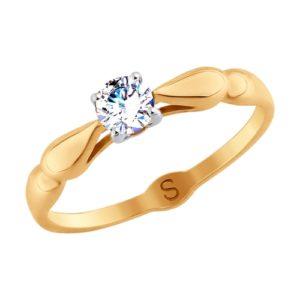 Кольцо из золота со Swarovski