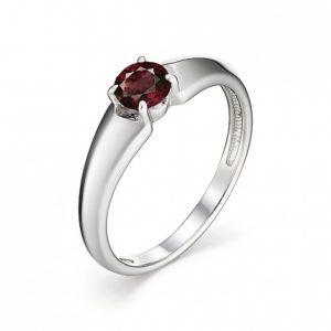 Кольцо из Серебра с Гранатами