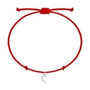 Браслет из Серебра Красная нить на запястье