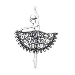 Брошь Балерина из Серебра