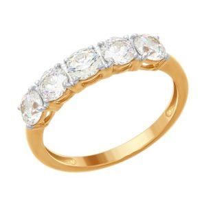 Кольцо из Золочёного серебра Дорожка
