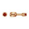 Серьги-пусеты из золота с красными фианитами