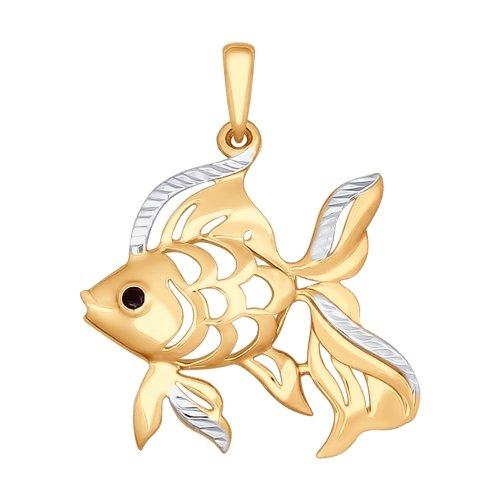 Подвеска «Рыба» из золота