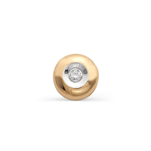 Подвеска из золота Бегунок с бриллиантом