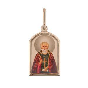 """Подвеска икона из золота """"Св.Николай Чудотворец"""""""