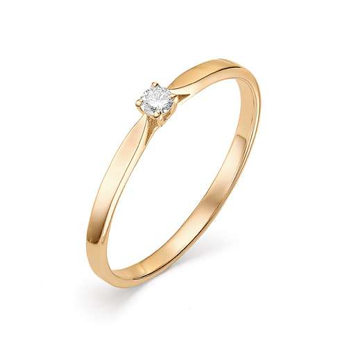Кольцо из золота Помолвочное с бриллиантом