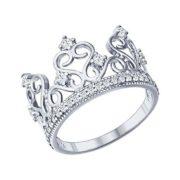 Кольцо из серебра Корона