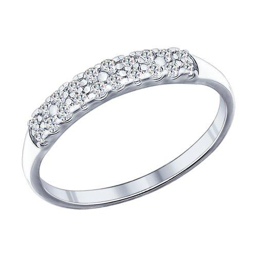 Кольцо из серебра с фианитами