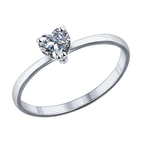 Кольцо из серебра Сердечко