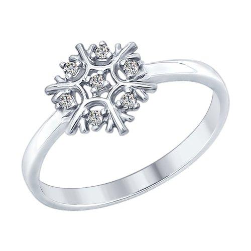 Кольцо из серебра Снежинка