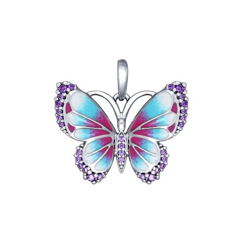 Подвеска из серебра Бабочка
