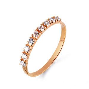 Кольцо из золота с Фианитами Дорожка