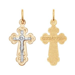 Подвеска из золота Крест