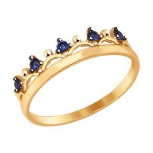 Кольцо из золота с Фианитами Корона