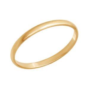 Кольцо обручальное из золота гладкое
