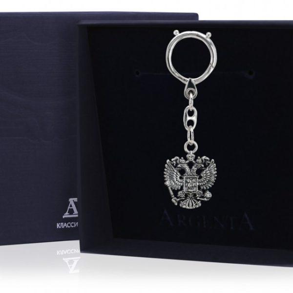 Брелок для ключей из серебра Герб