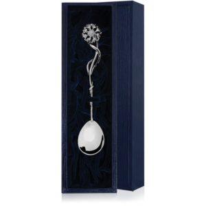 Ложка чайная из серебра Василёк