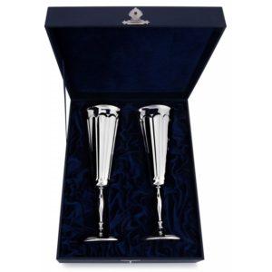 Набор фужеров из серебра для шампанского