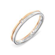 Кольцо обручальное из золота с бриллиантами Линии Любви
