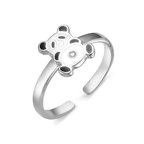 Кольцо детское из серебра с Эмалью