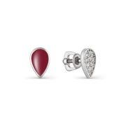 Серьги из серебра с эмалью и кубическим цирконием