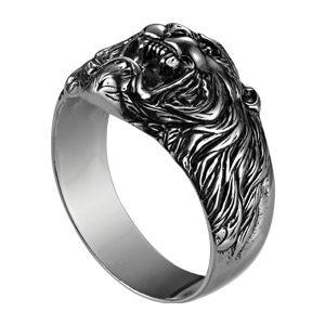 Печатка из серебра Лев