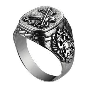 Печатка из серебра Георгий Победоносец