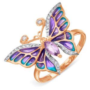"""Кольцо из золота """"Бабочка"""""""