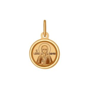 Подвеска из красного золота Св.Блаженная Матрона Московская