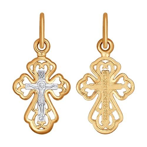 Крест из золота Комбинированный