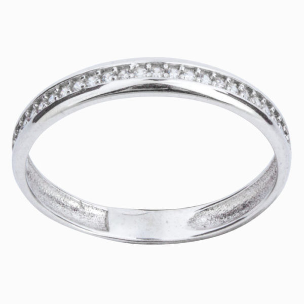 Серебряное кольцо с Фианитами Дорожка
