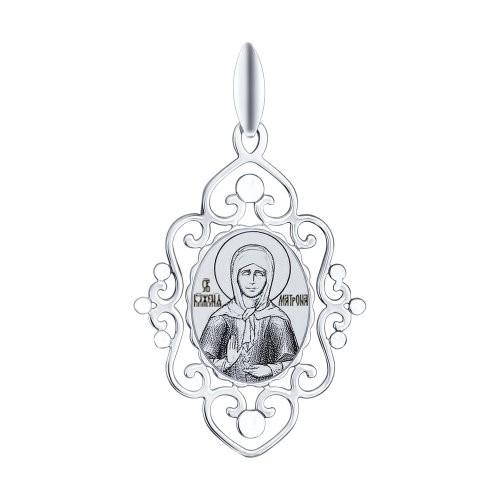 Подвеска из Серебра Икона Св.Блаженная Матрона Московская