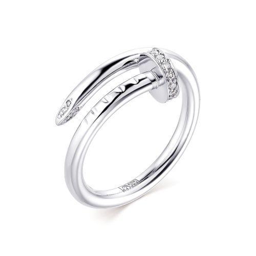 Кольцо из Белого золота с Бриллантами