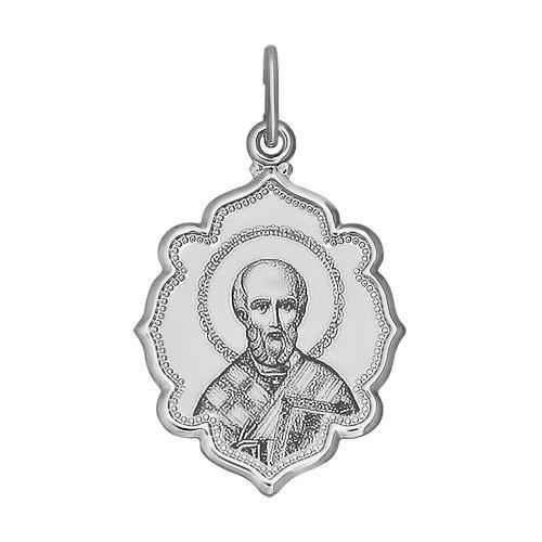 Подвеска Иконка из серебра Св.Николай Чудотворец
