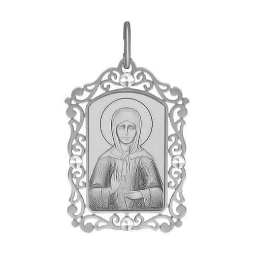 Подвеска Иконка из Серебра Св.Блаженная Матрона Московская