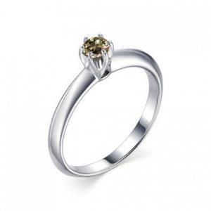 Кольцо из Серебра с Хризолитом