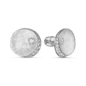 Серьги-пусеты из Серебра с Фианитами
