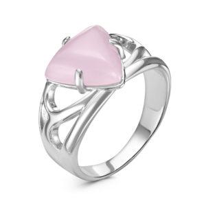 Кольцо из Серебра с Розовым кварцем