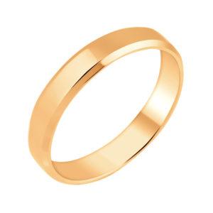 Кольцо обручальное из Красного золота Шайба