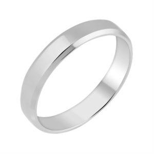 Кольцо обручальное из Белого золота Шайба