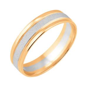 Кольцо обручальное из Комбинированного золота 585*