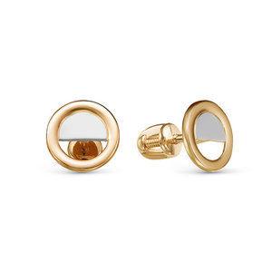 Серьги-пусеты из Комбинированного золота