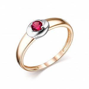 Кольцо из Красного золота с Рубином