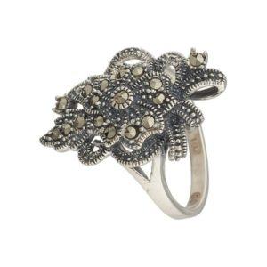 Кольцо из Серебра с Марказитом
