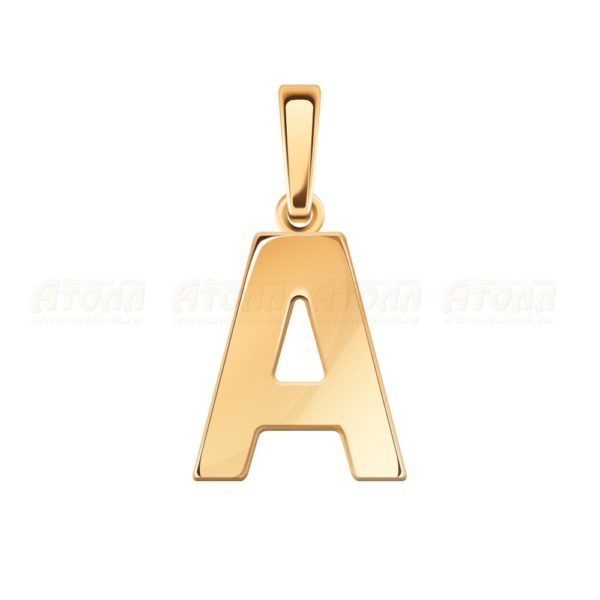 "Подвеска буква ""А""из красного золота"