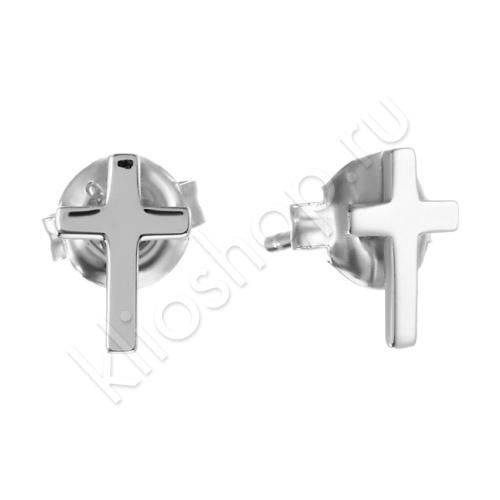 Серьги Кресты из Серебра