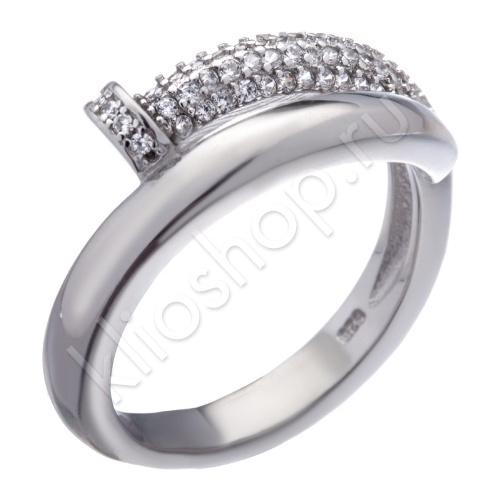 Кольцо из Серебра с кубическими цирконами