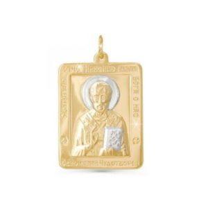 Подвеска из Золота Святой Николай Чудотворец